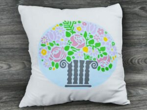 new plus colors on a pillow