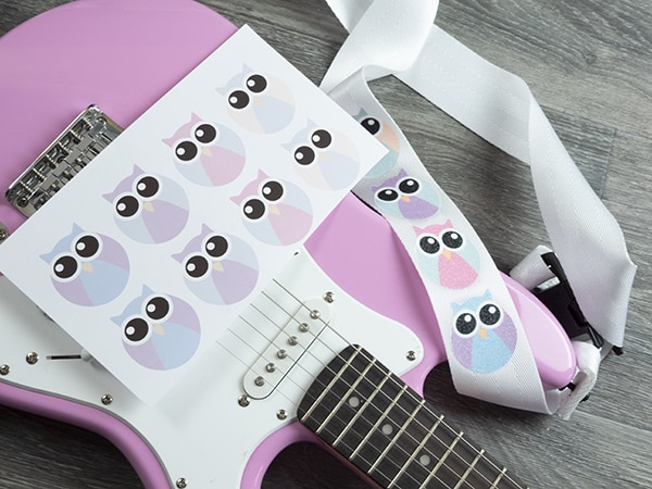 sublimated glitter guitar strap